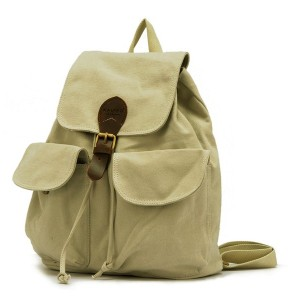 beige girls canvas rucksack backpack