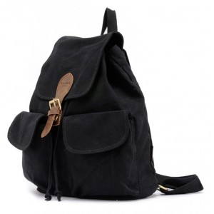 black girls canvas rucksack backpack