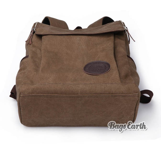 coffee canvas backpack for men black canvas knapsacks backpacks