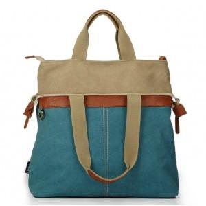 blue trendy tote bag