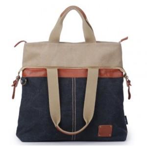 black trendy tote bag