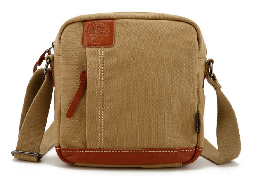 Canvas book school bag, crossbody messenger bag - BagsEarth