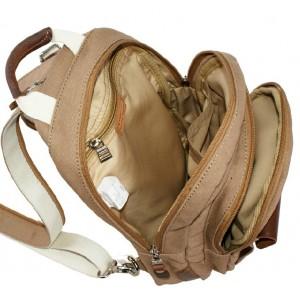 khaki Canvas rucksack for women