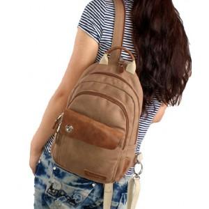 khaki canvas rucksack small