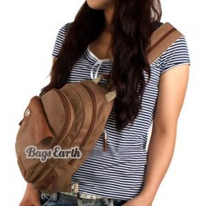 womens canvas rucksack small