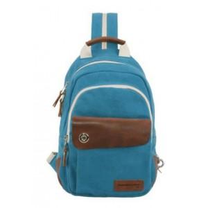 blue Canvas rucksack for women