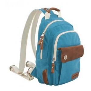 blue canvas rucksack small