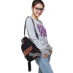 black Canvas rucksack for women