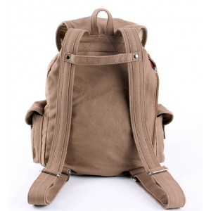 khaki Backpack bag