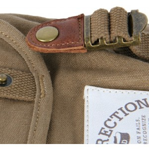 khaki backpack purse