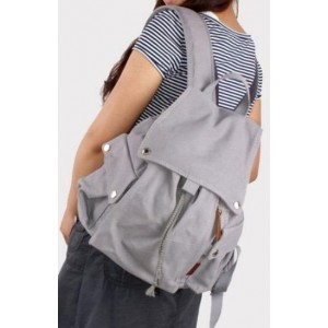 grey Backpack school