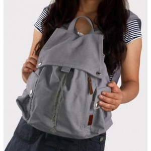 grey backpack for college
