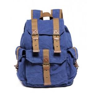 blue backpack for travel
