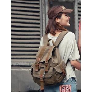 army green Backpack for teenage girls
