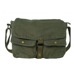 army green student messenger bag