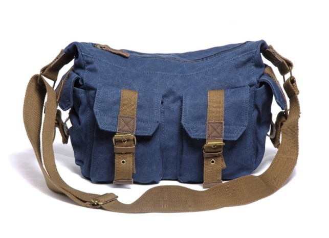 Messenger Bag Blue Stylish Travel Organizer