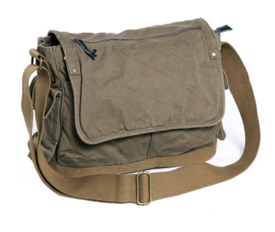 Travel messenger bag, canvas sales bag - BagsEarth