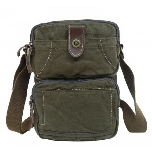 Vertical messenger bag for men, unique messenger bag