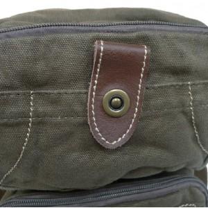army green Vertical messenger bag for men
