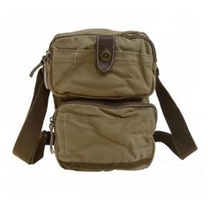 khaki unique messenger bag