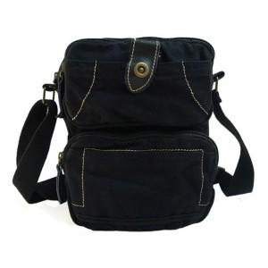 black unique messenger bag