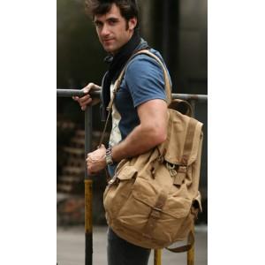 khaki Backpack for men