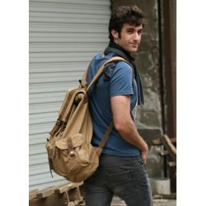 khaki backpack for school