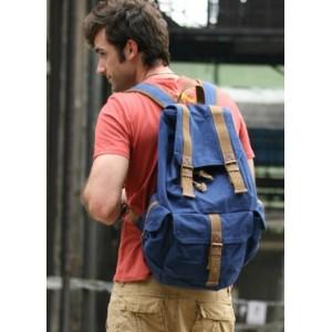 blue Backpack for men