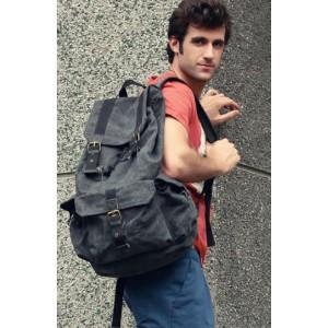 grey backpack for school