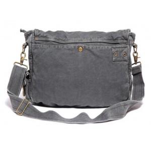 grey travel shoulder bag