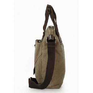 khaki Shoulder travel bag