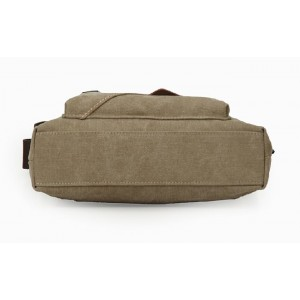 khaki shoulder messenger bag