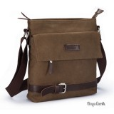 Canvas Shoulder Bag, Coffee Canvas Shoulder Bag Mens