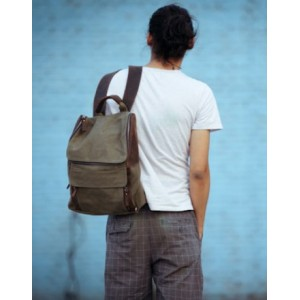 mens Cotton canvas backpack