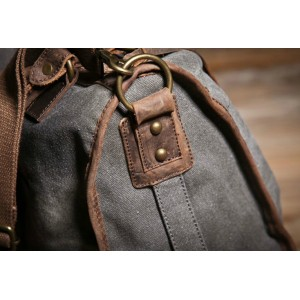 grey school messenger bag