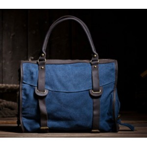 blue school messenger bag