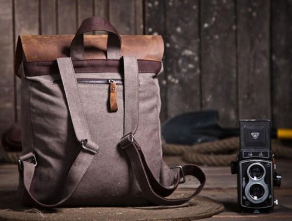 Vintage canvas knapsacks · canvas and leather backpack for men · coffee  Vintage canvas knapsacks ... 2097d8e76c