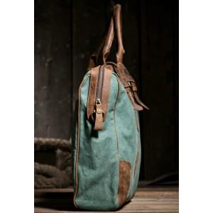 green Satchel messenger bag