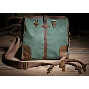 green retro messenger bag for women