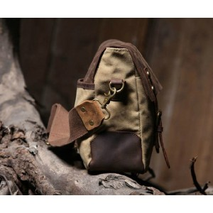 khaki Retro messenger bag