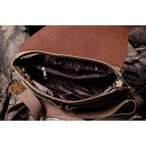 khaki promotional messenger bag