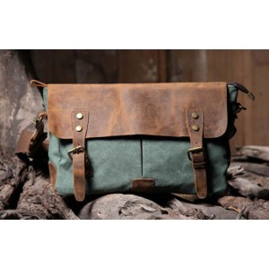 green Retro messenger bag