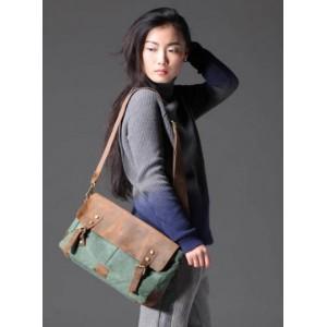 green promotional messenger bag