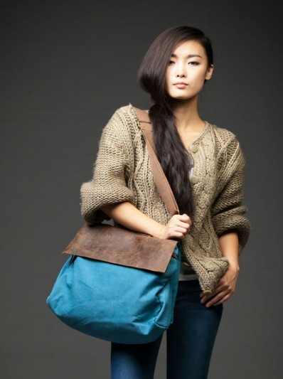Blue Over Shoulder Bag