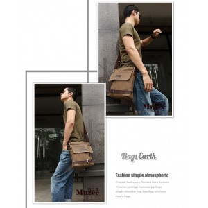 mens canvas shoulder bags uk