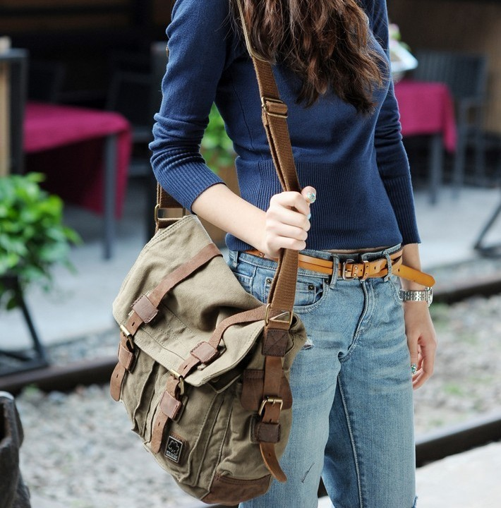 f1c5ca2132 Vintage Canvas Messenger Bag