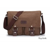 Mens Canvas Satchel Bags, Coffee Canvas Messenger Bag
