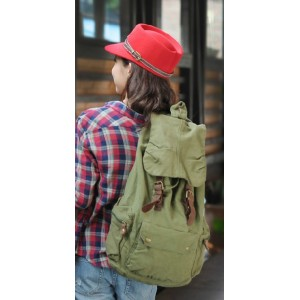 army green traveling backpacks