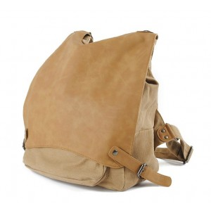 yellow Vintage canvas backpack
