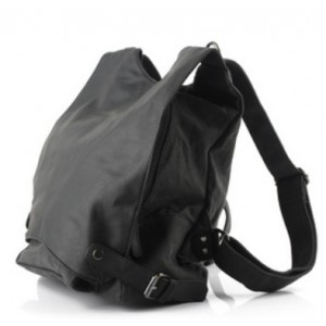 black sturdy backpack
